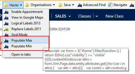Microsoft Dynamics CRM 2013: Populating Required Fields with