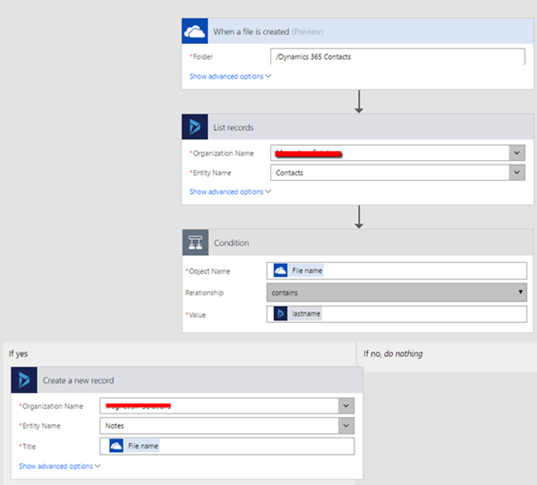 image thumb 2 How to Create Dynamics 365 Notes from OneDrive using Microsoft Flows