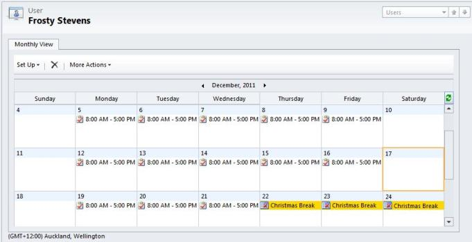 Scheduling Work Hours And Business Closure Dynamics CRM