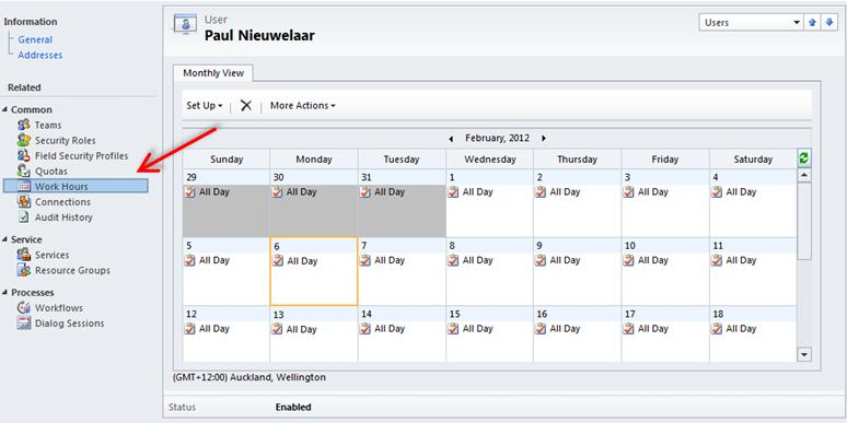 Scheduling Work Hours and Business Closure Dynamics CRM 2011