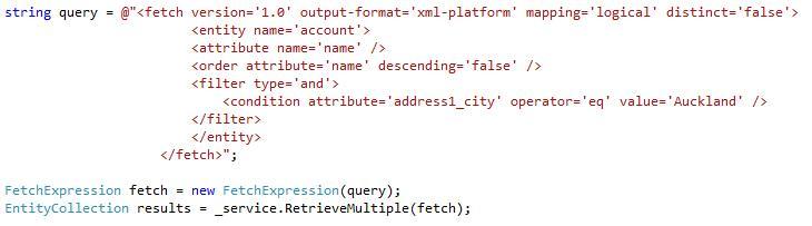 Querying Data using FetchXML