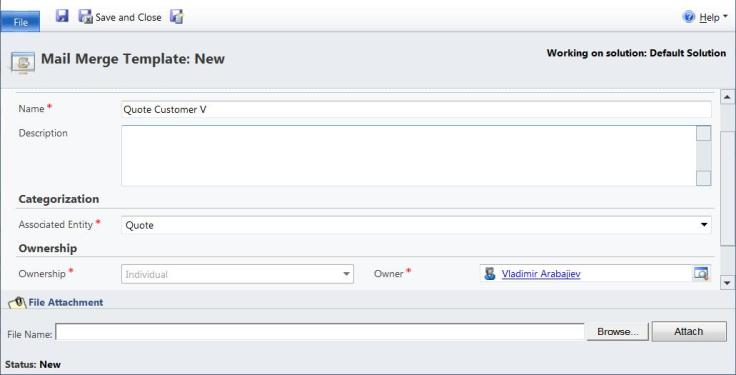 Dynamics CRM 2011, Mail Merge Templates showing Quote Information ...