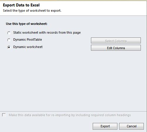 Exporting Dynamic Worksheets to Excel in Dynamics CRM 2011 – Crm Worksheet