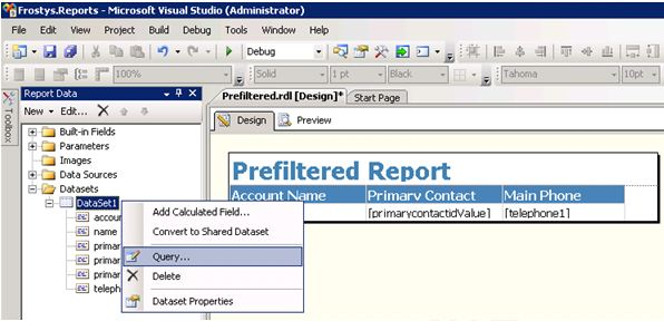 Run Fetch XML Report on Selected Record in Dynamics CRM 2011