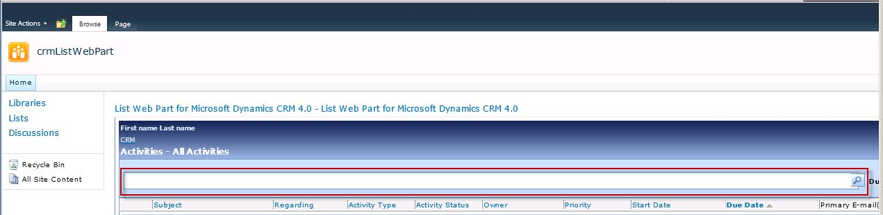 Using JavaScript to connect CRM and SharePoint