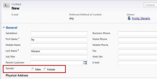 No Default Value on Two Options Field Dynamics CRM 2011