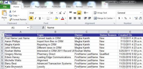 How can I get information out of Dynamics CRM?