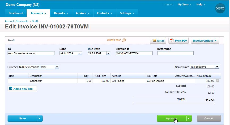 Syncing Dynamics CRM Invoices With Xero Online Accounting - Xero invoicing add on