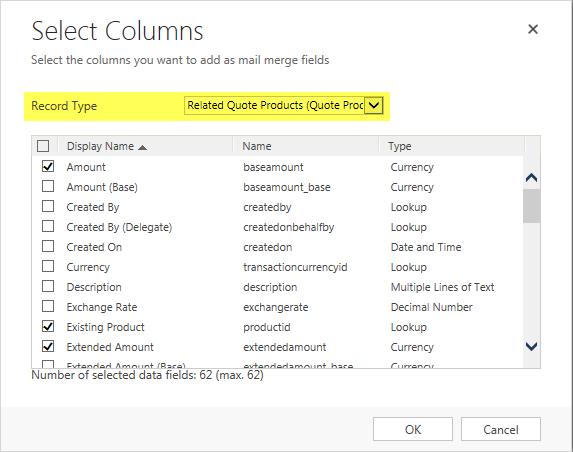 customer data template