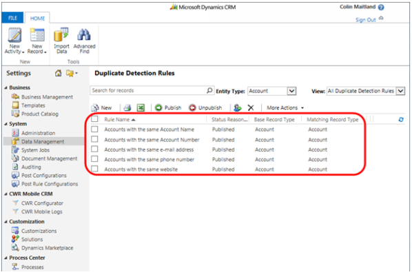 Deduplication of Data during Import using Data Import Wizard and Duplicate Detection Rules