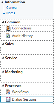 ISV Extension Privilege Required To Display Renamed Information Form Navigation Pane Group Headings