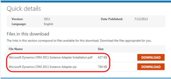 Microsoft Dynamics CRM 2011 Instance Adapter Part 1 Downloads