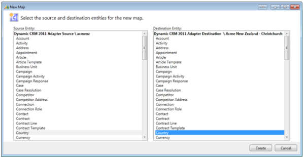 Microsoft Dynamics CRM 2011 Instance Adapter Part 4 Configure and Run a Simple Integration
