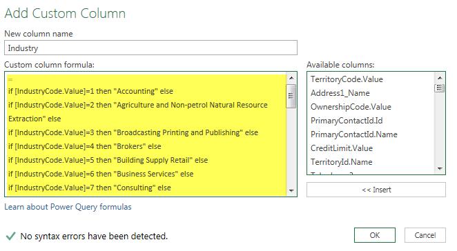 Power BI Microsoft Dynamics CRM 2013 – Part 13