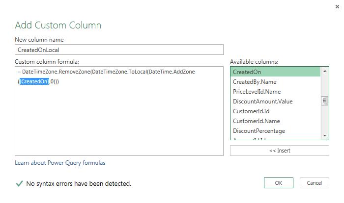 Power BI Microsoft Dynamics CRM 2013 – Part 15