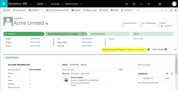 image thumb 8 Business Process Flow Specific Entities in Microsoft Dynamics 365   Part 2
