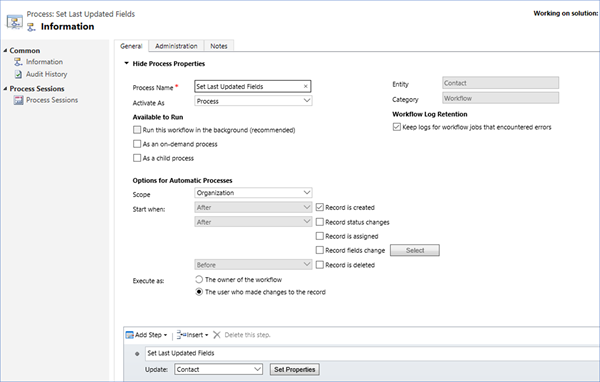 image thumb How to Set a User Lookup Field to the Current User using a Workflow Process in Microsoft Dynamics 365   Part 2