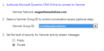 Dynamics CRM 2011 and Yammer Integration Step by Step