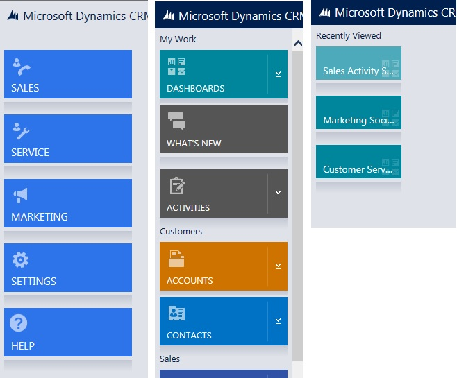 Microsoft Dynamics CRM 2015 Left Navigation Solution