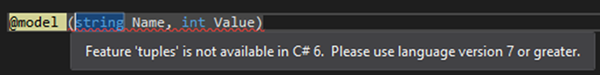 image thumb 1 How to Use C# 7 Value Tuples in ASP.NET MVC