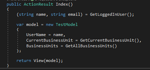 image thumb 2 How to Use C# 7 Value Tuples in ASP.NET MVC