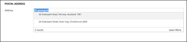 image thumb New Zealand Post Auto complete in Dynamics 365