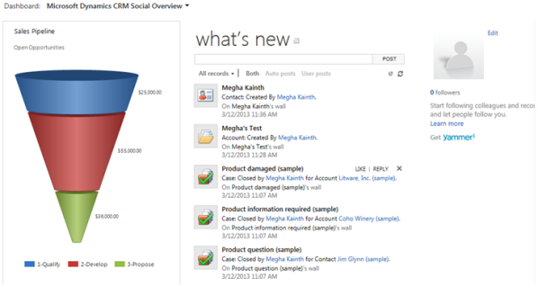 Features of Polaris in Microsoft Dynamics CRM 2011
