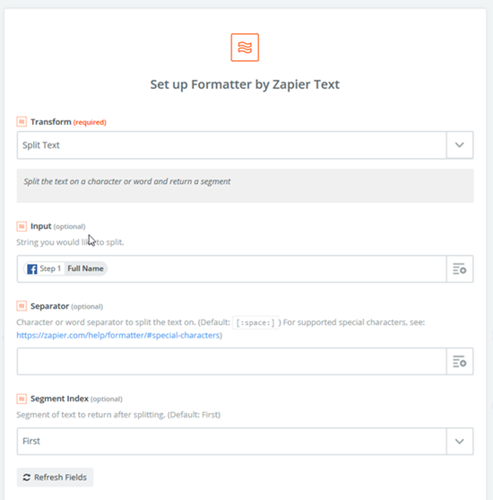 image thumb How to Set the Full Name Mapping from Facebook Lead Ads to Dynamics 365 using Zapier