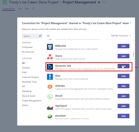 image thumb 1 Step by Step Guide Connecting Microsoft Dynamics 365 with Microsoft Teams