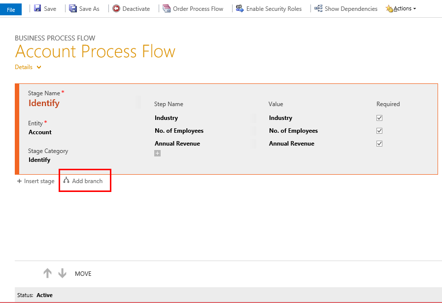 Branching Business Process Flows in Microsoft Dynamics CRM 2015