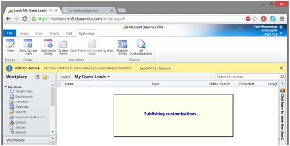CRM 2011 Rollup 12 No More Freezing PC while Publishing