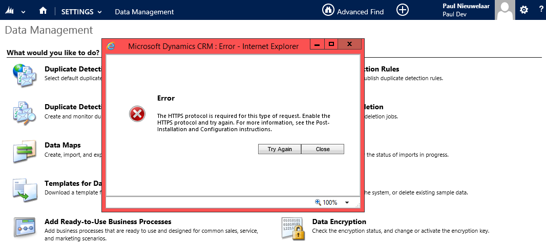 Data Encryption Errors After Restoring Microsoft Dynamics CRM Database