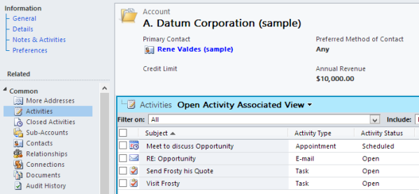 Default Activity Filter on to All Dynamics CRM 2011 UR12