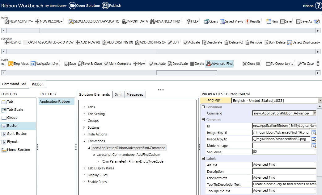 Advanced Find from Form Command Bar in Dynamics CRM 2013 | Magnetism