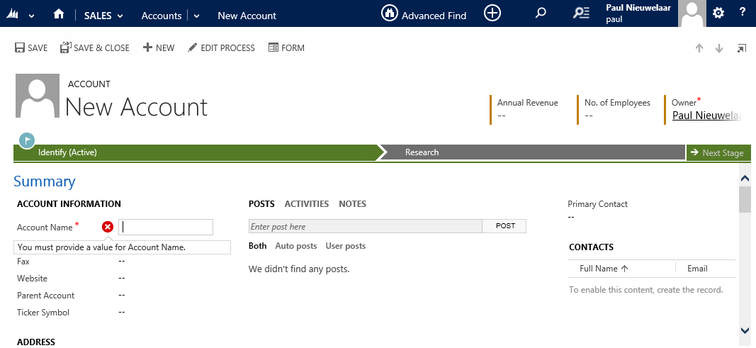 Required Fields Missing Red Asterisk Symbol in Microsoft Dynamics CRM