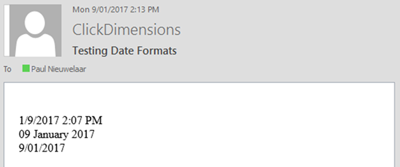 image thumb 2 How to Specify Custom DateTime Placeholder Format in ClickDimensions for Dynamics 365