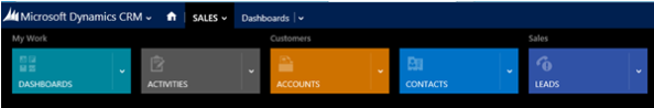 CRM 2013 The New Navigation Bar