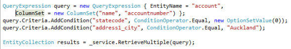 Dynamics CRM 2011 Querying Data with QueryByAttribute
