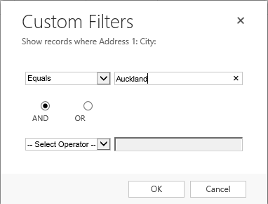 Improved View Filters in CRM 2013