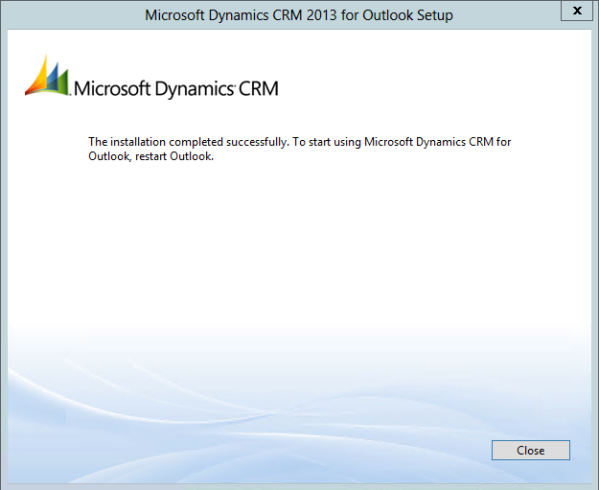 Installing Dynamics CRM 2013 for Outlook