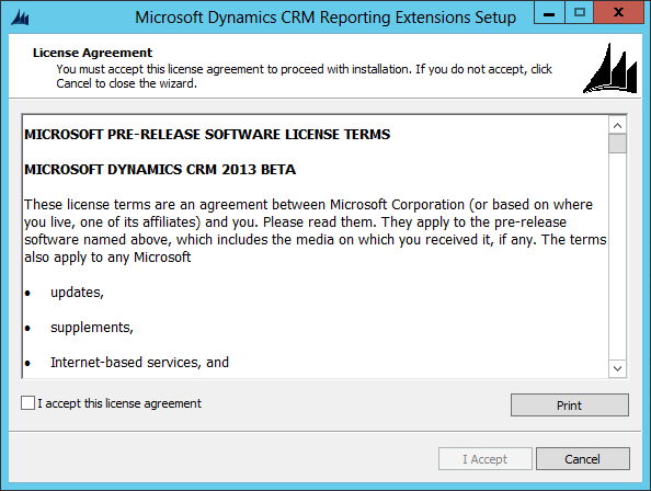 Installing Dynamics CRM 2013 Reporting Extensions