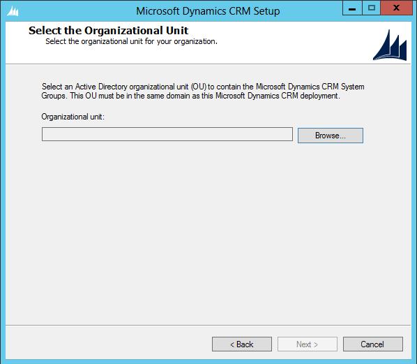 Installing Dynamics CRM 2013 Server