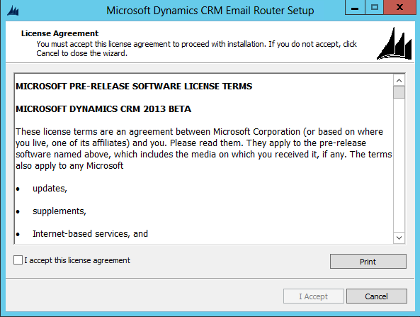 Installing the CRM 2013 Email Router