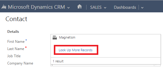 Nested Quick Create in Microsoft Dynamics CRM 2015