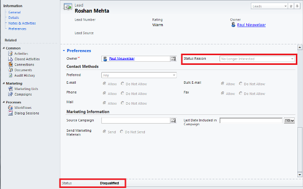 Programmatically Change the Status of a Dynamics CRM Record