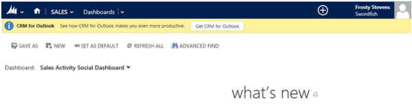 Set Your Default Start Page in CRM 2013