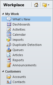 User Interface Changes in Dynamics CRM 2011