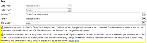 image thumb 5 Introduction to Behaviours of Date and Time Fields in Dynamics 365