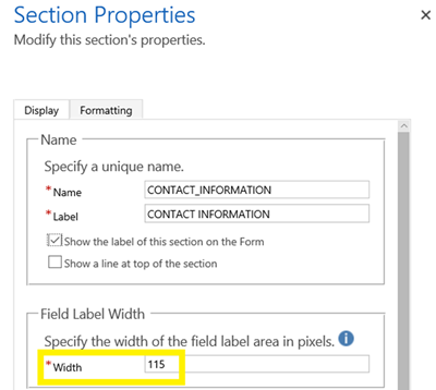 image thumb 1 Introduction to a new Dynamics 365 Setting   Allow text wrapping in form fields labels and values