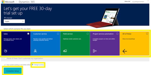 image thumb 5 How to Get 30 Day Trial of Microsoft Dynamics 365 for Free
